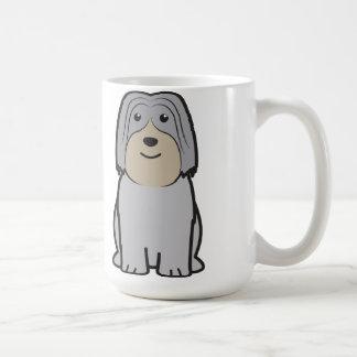 Polish Lowland Sheepdog Dog Cartoon Coffee Mug