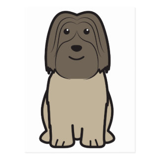 Polish Lowland Sheepdog Dog Cartoon Postcard