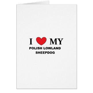 polish lowland sheepdog love card