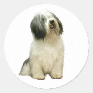Polish Lowland Sheepdog (PON) - A Classic Round Sticker