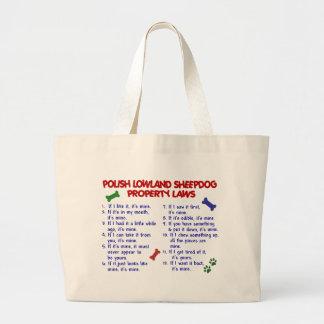 POLISH LOWLAND SHEEPDOG Property Laws 2 Canvas Bags