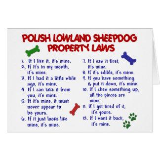 POLISH LOWLAND SHEEPDOG Property Laws 2 Greeting Card
