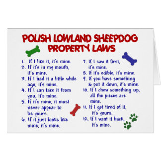 POLISH LOWLAND SHEEPDOG Property Laws 2 Cards