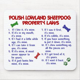 POLISH LOWLAND SHEEPDOG Property Laws 2 Mouse Pad