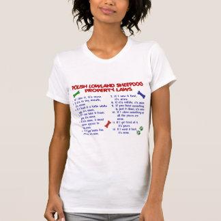 POLISH LOWLAND SHEEPDOG Property Laws 2 T-shirts