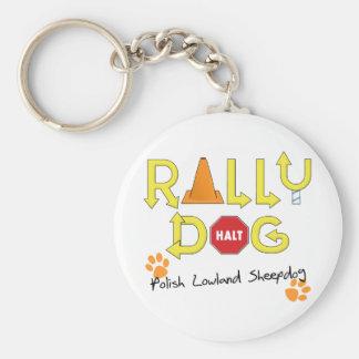 Polish Lowland Sheepdog Rally Dog Keychain