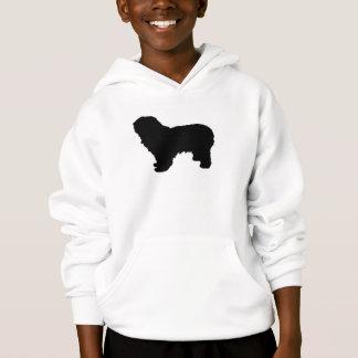 polish lowland sheepdog silo black hoodie