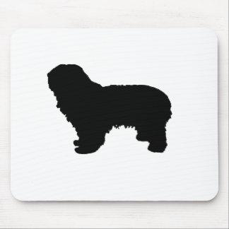 polish lowland sheepdog silo black mouse pad