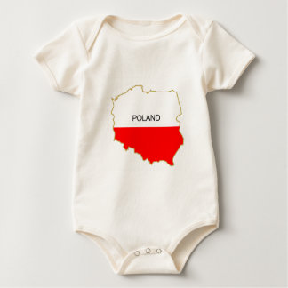 Polish Map Baby Bodysuit
