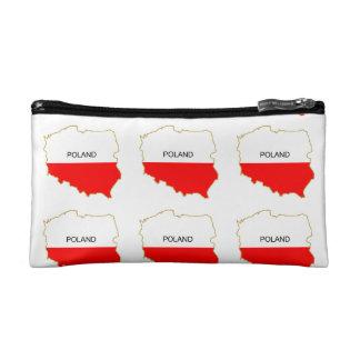 POLISH MAP COSMETIC BAG