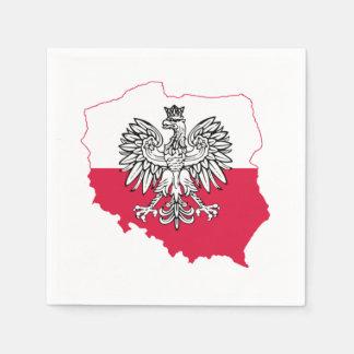 Polish Map Flag Bar Napkins