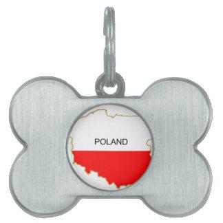Polish Map Pet Tag