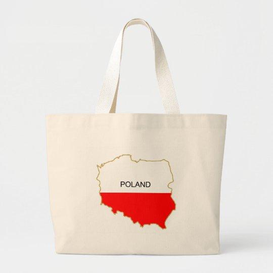 Polish Map png Large Tote Bag