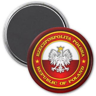Polish Medallion 3 Inch Round Magnet