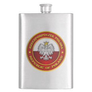 Polish Medallion Hip Flask