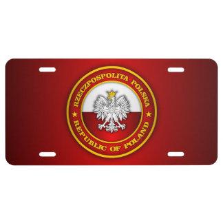 Polish Medallion License Plate