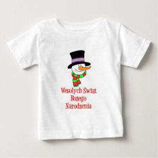 Polish Merry Christmas Snowman Shirt