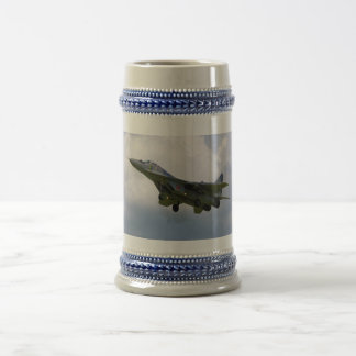Polish MiG-29 version 9.12A from Base in Malbork Beer Stein