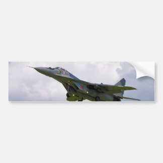 Polish MiG-29 version 9.12A from Base in Malbork Car Bumper Sticker