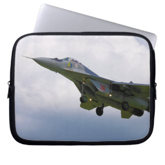 Polish MiG-29 version 9 12A from Base in Malbork Laptop Computer Sleeves