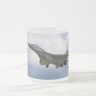 Polish MiG-29 version 9.12A from Base in Malbork 10 Oz Frosted Glass Coffee Mug