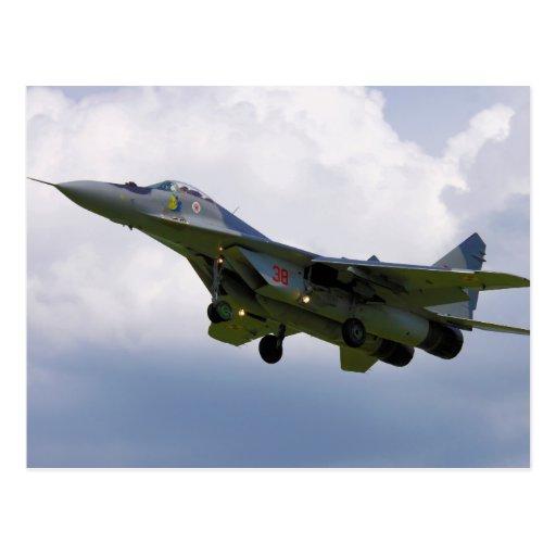 Polish MiG-29 version 9.12A from Base in Malbork Postcard