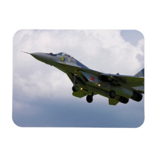 Polish MiG-29 version 9.12A from Base in Malbork Rectangle Magnet