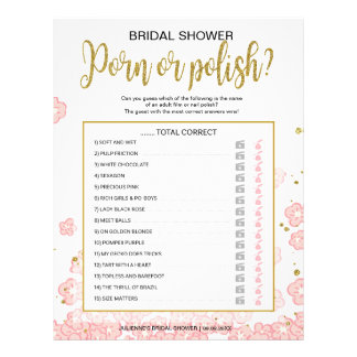 Polish Nail Affordable Hens Night Pink Floral Game Flyer