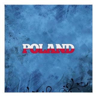 Polish name and flag on cool wall perfect poster