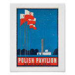 Polish Pavilion  NY World's Fair, 1938 Vintage Poster