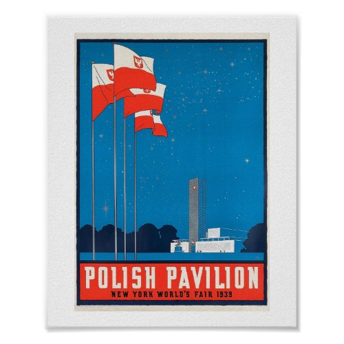 Polish Pavilion  NY World's Fair, 1938 Vintage