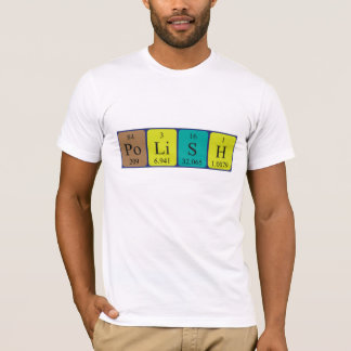 Polish periodic table patriotic shirt