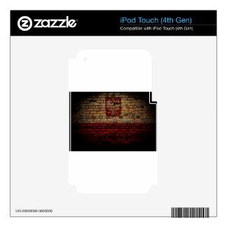 Polish Poland Flag Brick Wall Design iPod Touch 4G Skins