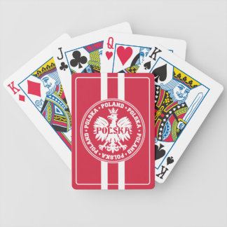 Polish Polska Eagle Emblem Bicycle Playing Cards