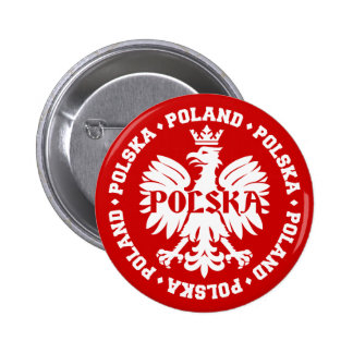 Polish Polska Eagle Emblem Button