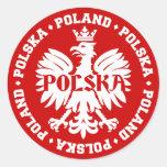 Polish Polska Eagle Emblem Classic Round Sticker