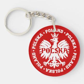 Polish Polska Eagle Emblem Keychain