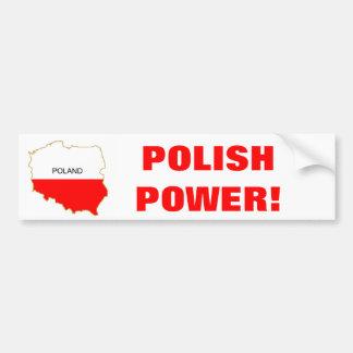 POLISH POWER! BUMPER STICKER