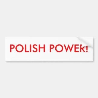 POLISH POWER BUMPER STICKERS