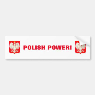 POLISH POWER BUMPER STICKER