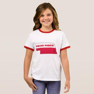 POLISH POWER NEBRASKA RINGER T-Shirt