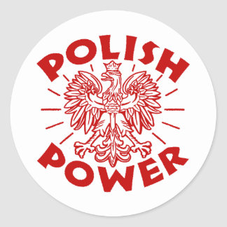 Polish Power Round Sticker