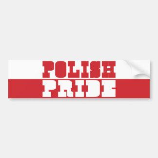 Polish Pride Car Bumper Sticker