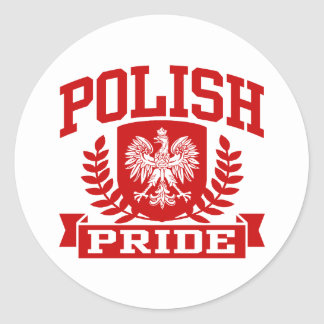 Polish Pride Classic Round Sticker