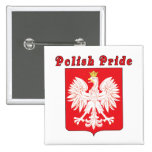 Polish Pride Eagle Pinback Buttons