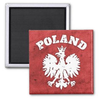 Polish Pride Eagle Symbol 2 Inch Square Magnet