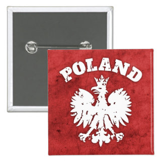 Polish Pride Eagle Symbol Pinback Button