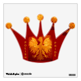 POLISH PRIDE EAGLE WITH CROWN ON CROWN SHAPED WALL WALL DECAL