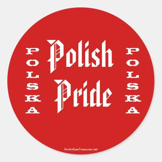 Polish Pride Polska Sticker Label