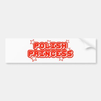 Polish Princess Car Bumper Sticker